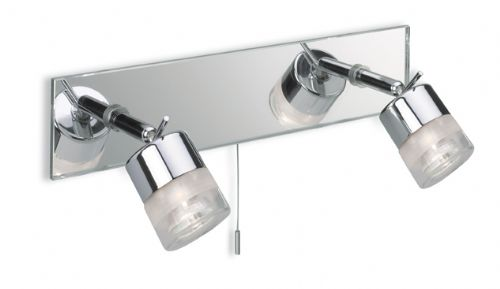 Firstlight 6096CH Chrome with Mirror Glass Ocean 2 Light Bar (Switched)
